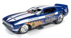 auto-world-AW1171-ford-mustang-funny-car-blue-max-1-18